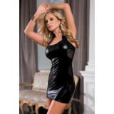 Платье Candy Girl Aspen, wetlook, черное, XL