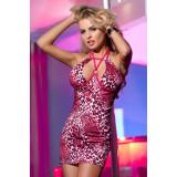 Клубное платье Candy Girl с леопардовым рисунком, розовое, XL