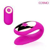 ВИБРОМАССАЖЁР цвет розовый, 10 режимов вибрации, L 75x80 мм D 26x34 мм, арт. CSM-23145
