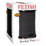 Черная веревка для связывания Bondage Rope - 60,9 м.
