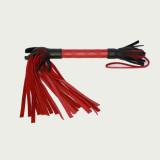 Красно-черная плетка из натуральной кожи - 51 см.