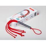Красная резиновая плеть с 8 хлыстами - 35 см.